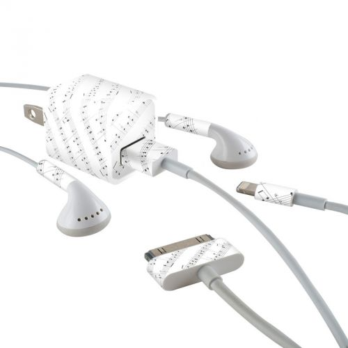 Symphonic iPhone Earphone, Power Adapter, Cable Skin