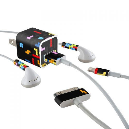 Tetrads iPhone Earphone, Power Adapter, Cable Skin