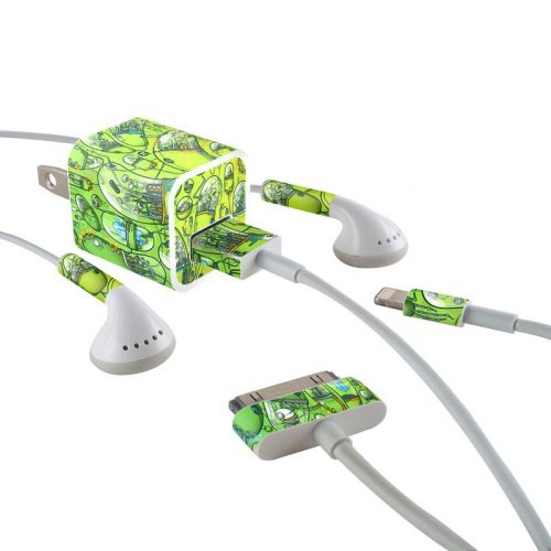 The Hive iPhone Earphone, Power Adapter, Cable Skin