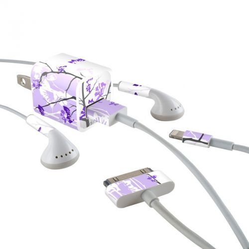 Violet Tranquility iPhone Earphone, Power Adapter, Cable Skin