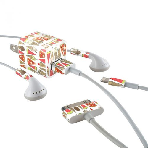 Treats iPhone Earphone, Power Adapter, Cable Skin