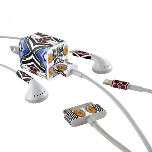 Tribal Sun iPhone Earphone, Power Adapter, Cable Skin
