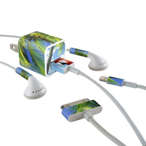 Tropics iPhone Earphone, Power Adapter, Cable Skin