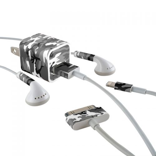 Urban Camo iPhone Earphone, Power Adapter, Cable Skin