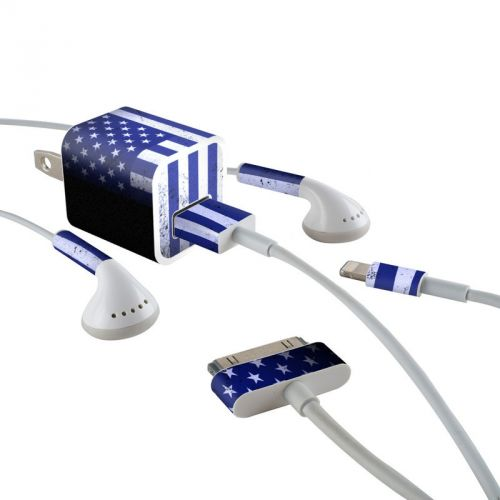 USAF Flag iPhone Earphone, Power Adapter, Cable Skin