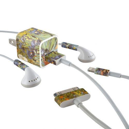 Irises iPhone Earphone, Power Adapter, Cable Skin