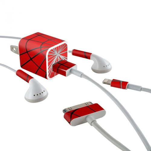 Webslinger iPhone Earphone, Power Adapter, Cable Skin