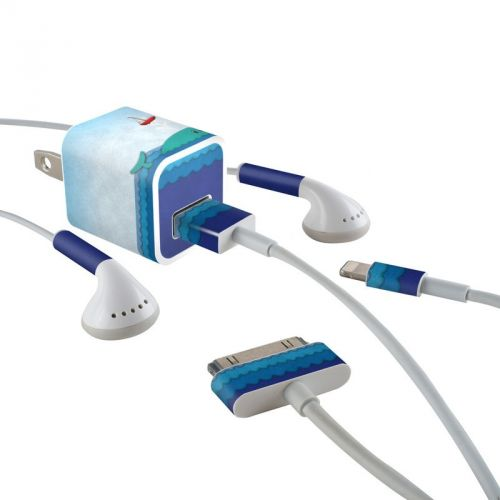 Whale Sail iPhone Earphone, Power Adapter, Cable Skin