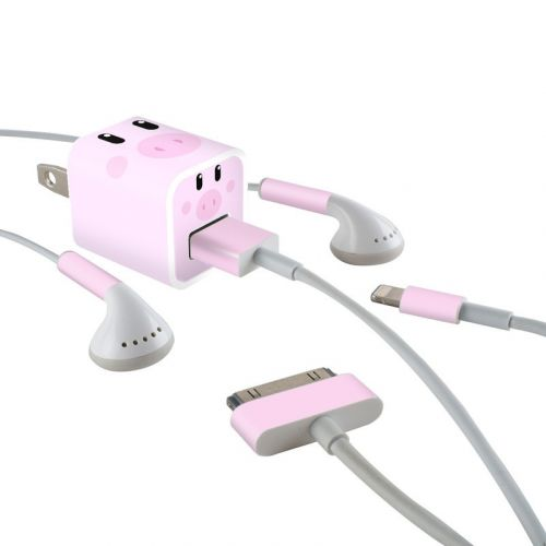 Wiggles the Pig iPhone Earphone, Power Adapter, Cable Skin