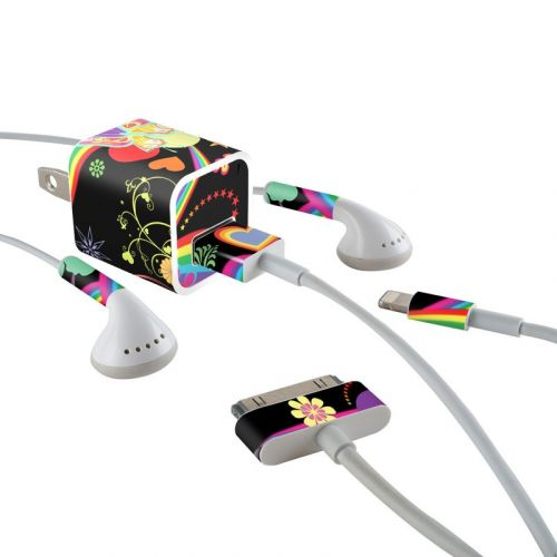 Wonderland iPhone Earphone, Power Adapter, Cable Skin