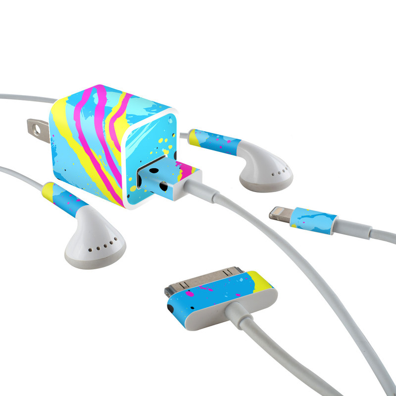 Acid iPhone Earphone, Power Adapter, Cable Skin