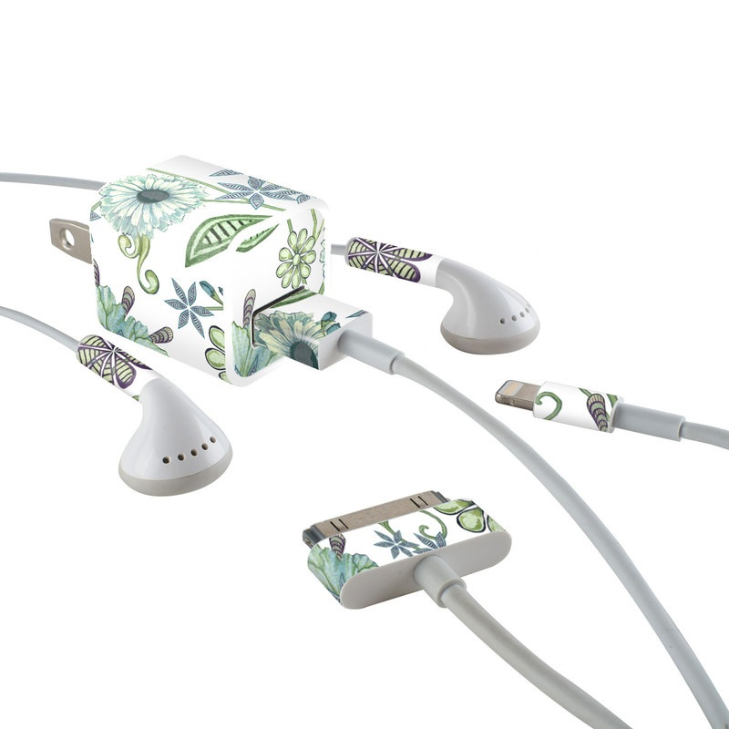 Antique Nouveau iPhone Earphone, Power Adapter, Cable Skin