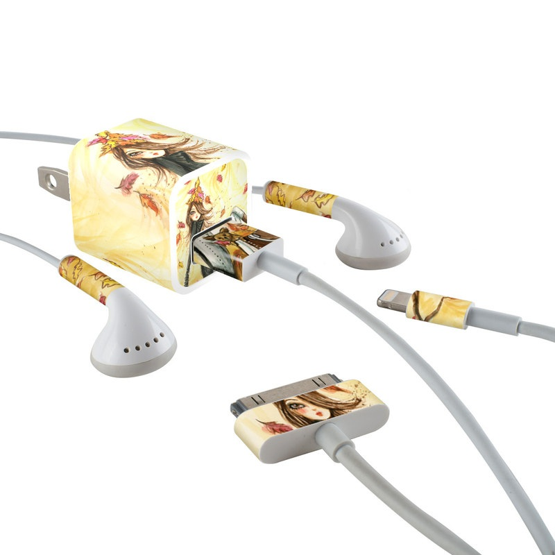 Autumn Leaves iPhone Earphone, Power Adapter, Cable Skin