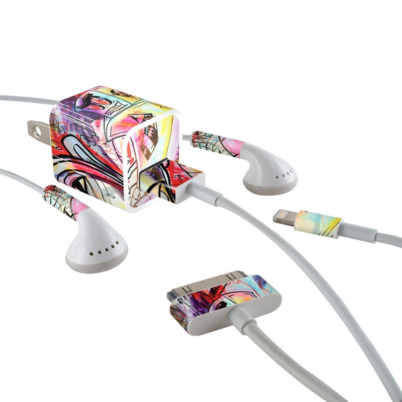 Battery Acid Meltdown iPhone Earphone, Power Adapter, Cable Skin