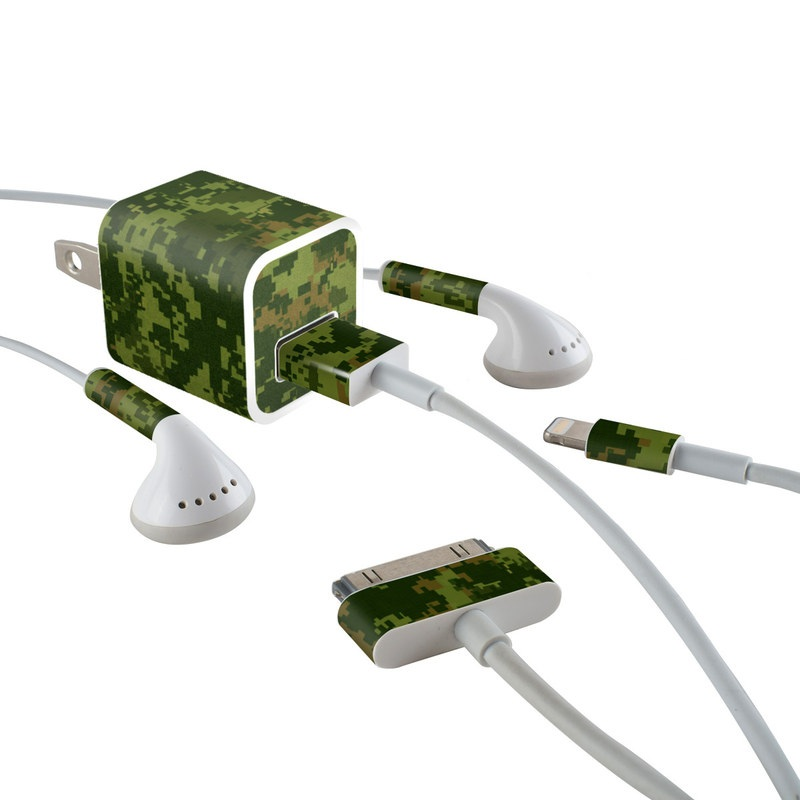 CAD Camo iPhone Earphone, Power Adapter, Cable Skin