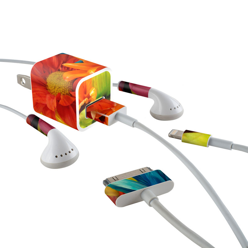 Colours iPhone Earphone, Power Adapter, Cable Skin