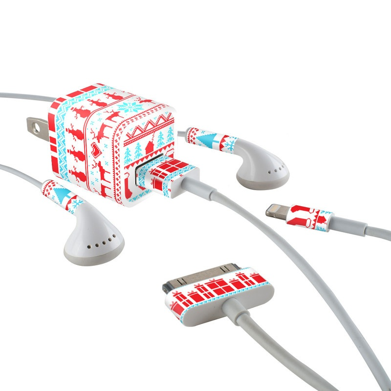 Comfy Christmas iPhone Earphone, Power Adapter, Cable Skin