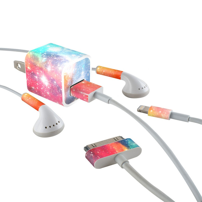 iPhone Earphone, Power Adapter, Cable Skin design of Nebula, Sky, Astronomical object, Outer space, Atmosphere, Universe, Space, Galaxy, Celestial event, Star with white, black, red, orange, yellow, blue colors