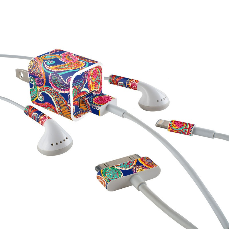 Gracen Paisley iPhone Earphone, Power Adapter, Cable Skin