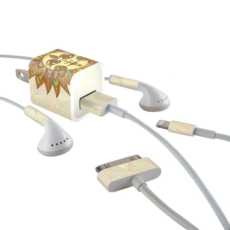 Helios iPhone Earphone, Power Adapter, Cable Skin