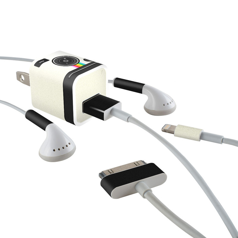 Insta iPhone Earphone, Power Adapter, Cable Skin