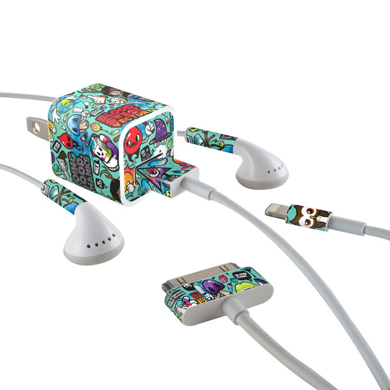 Jewel Thief iPhone Earphone, Power Adapter, Cable Skin