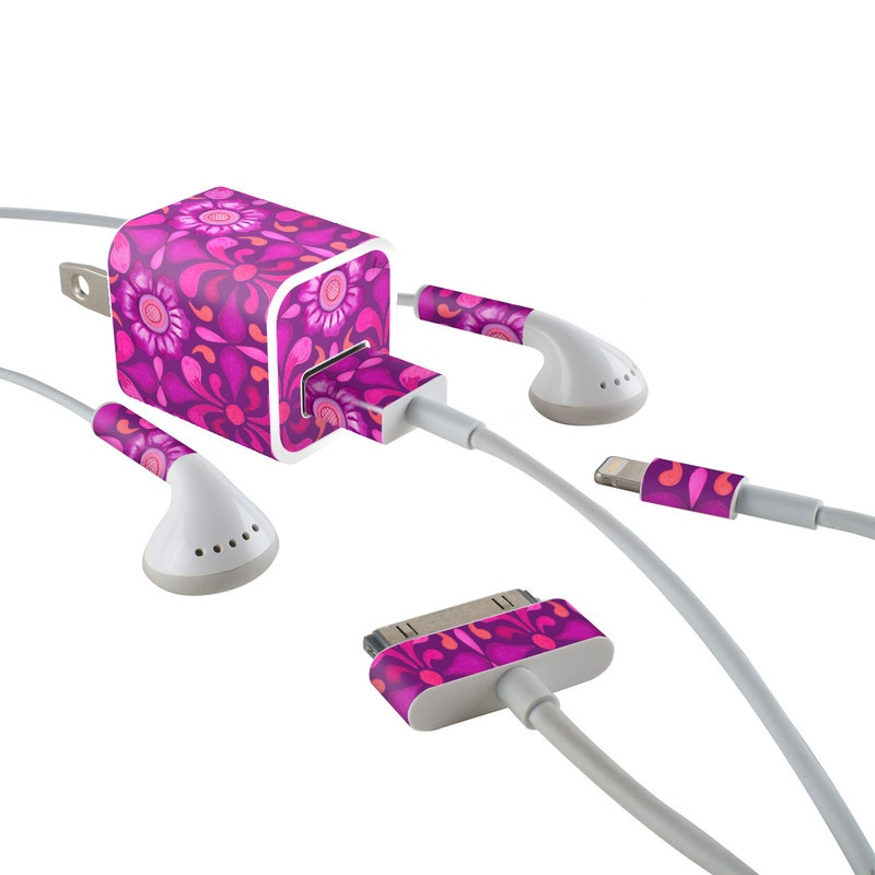 Layla iPhone Earphone, Power Adapter, Cable Skin