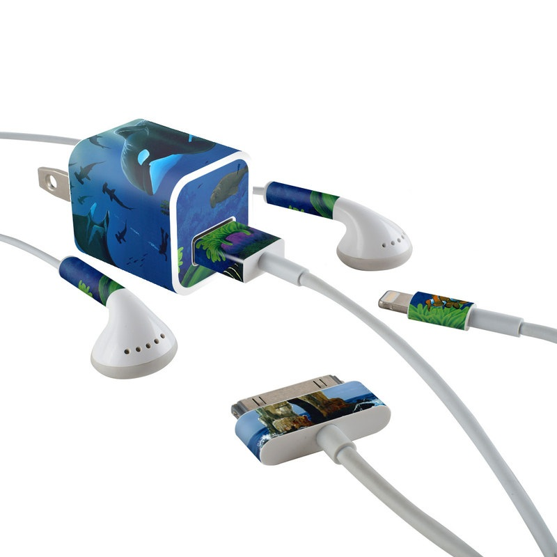 Oceans For Youth iPhone Earphone, Power Adapter, Cable Skin