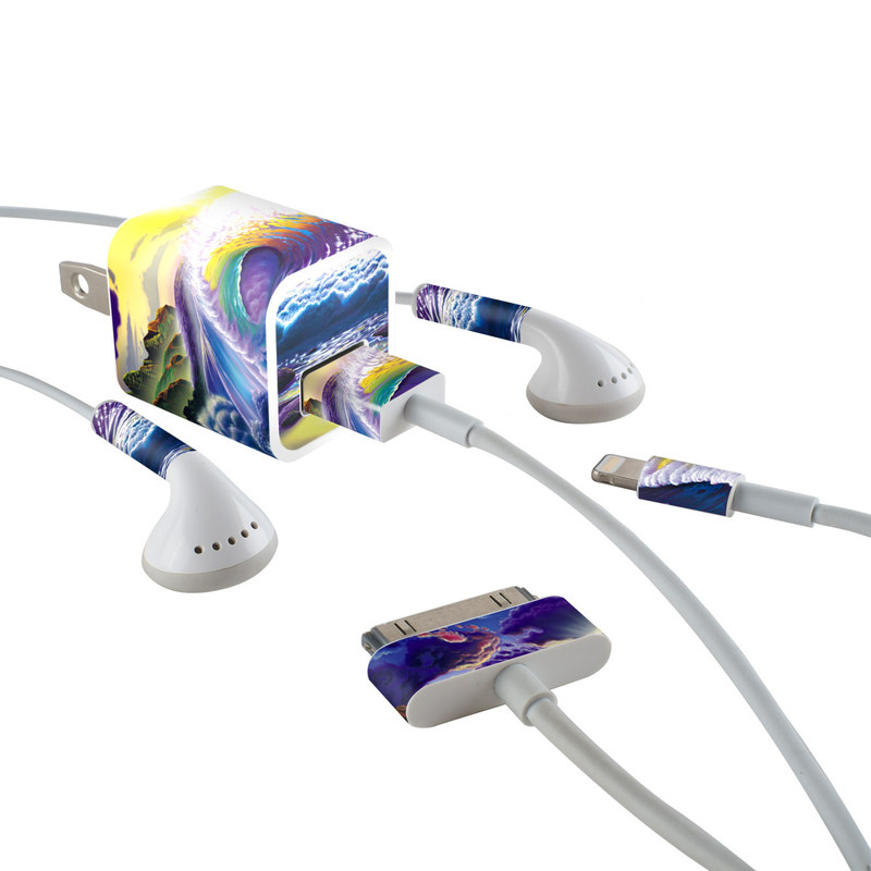 Passion Fin iPhone Earphone, Power Adapter, Cable Skin