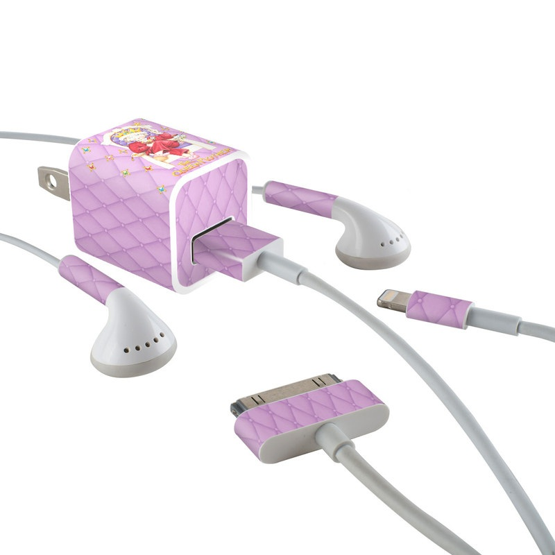Queen Mother iPhone Earphone, Power Adapter, Cable Skin