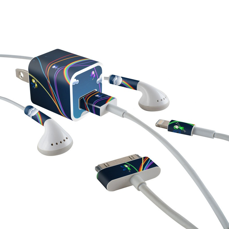 Rainbows iPhone Earphone, Power Adapter, Cable Skin