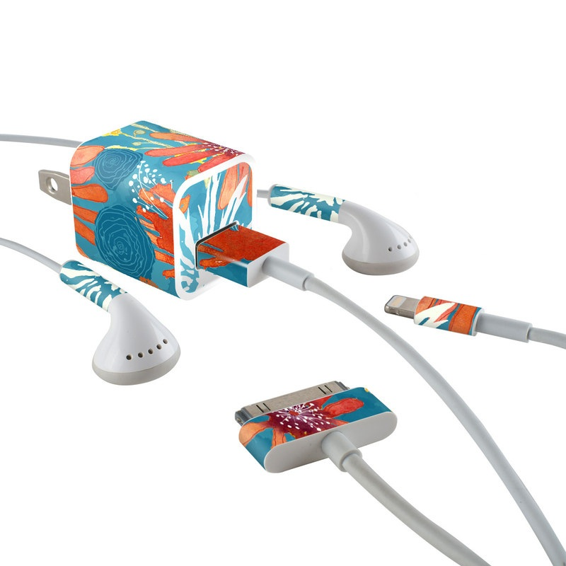 Sunbaked Blooms iPhone Earphone, Power Adapter, Cable Skin