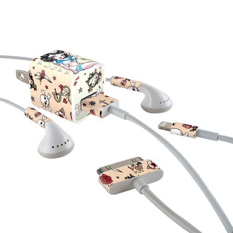 Suzy Sailor iPhone Earphone, Power Adapter, Cable Skin