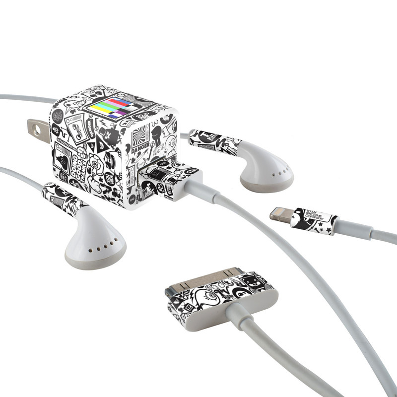 TV Kills Everything iPhone Earphone, Power Adapter, Cable Skin