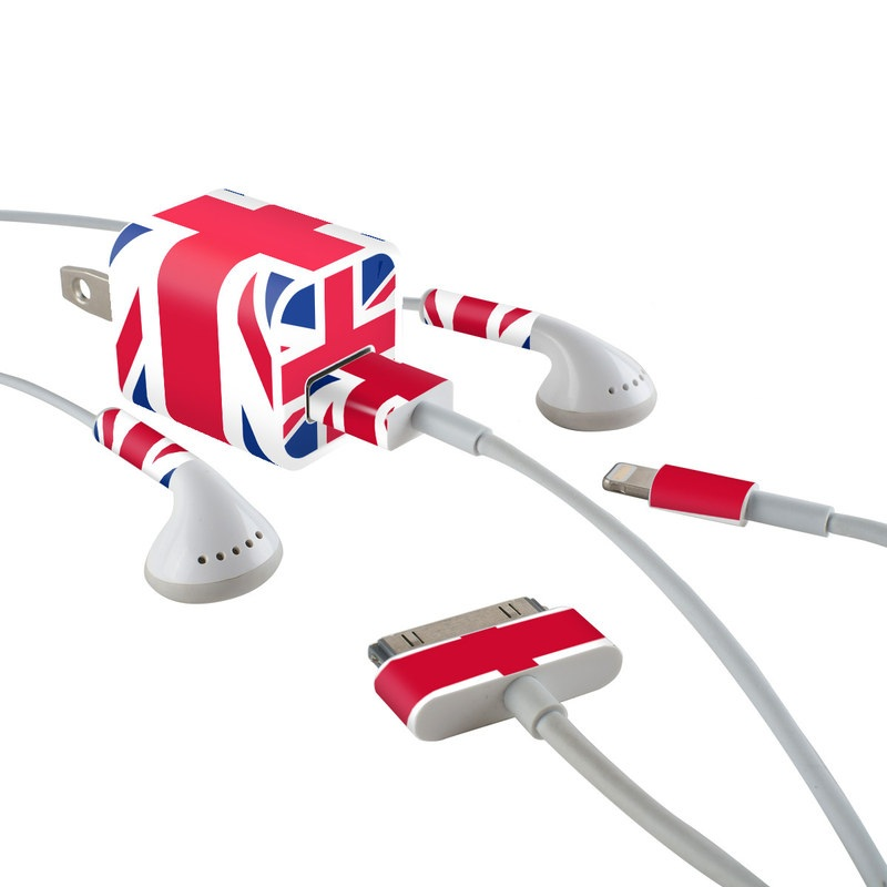 iPhone Earphone, Power Adapter, Cable Skin design of Flag, Red, Line, Electric blue, Design, Font, Pattern, Parallel, Flag Day (USA) with red, white, blue colors