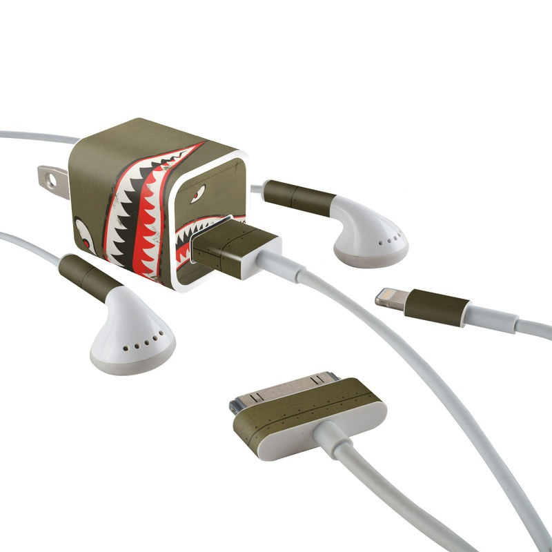 USAF Shark iPhone Earphone, Power Adapter, Cable Skin