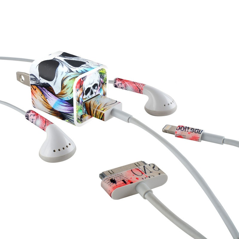 Visionary iPhone Earphone, Power Adapter, Cable Skin