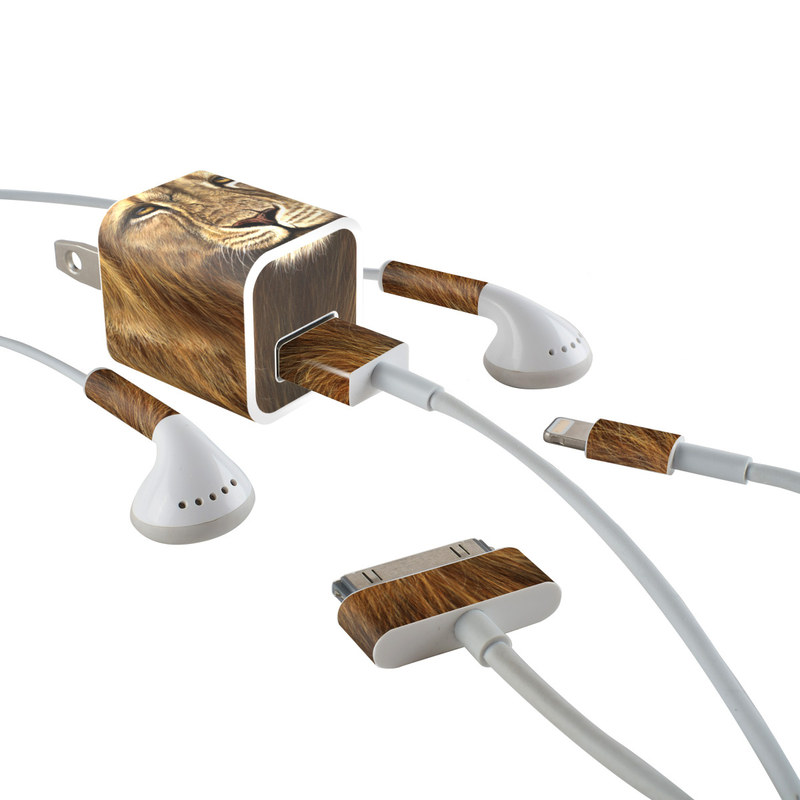 Warrior iPhone Earphone, Power Adapter, Cable Skin