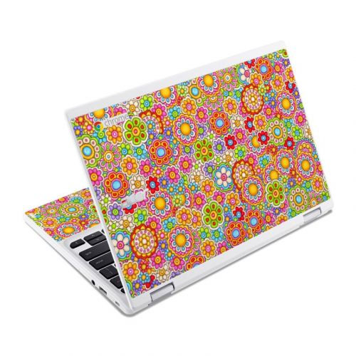 Bright Ditzy Acer Chromebook R 11 Skin