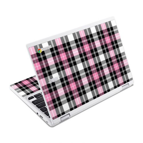 Pink Plaid Acer Chromebook R 11 Skin