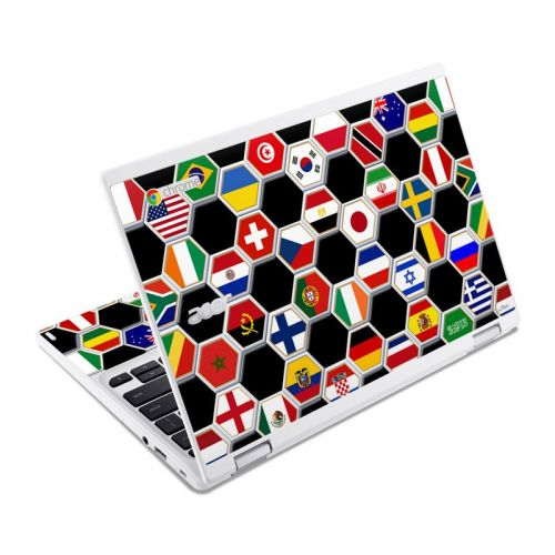 Soccer Flags Acer Chromebook R 11 Skin