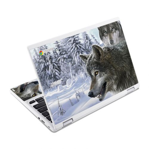 Snow Wolves Acer Chromebook R 11 Skin
