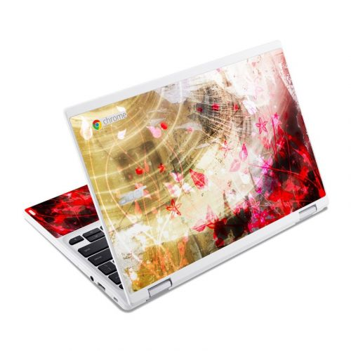 Woodflower Acer Chromebook R 11 Skin