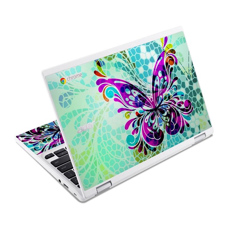 Butterfly Glass Acer Chromebook R 11 Skin