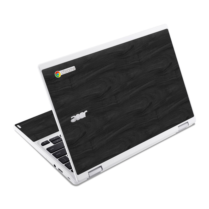 Black Woodgrain Acer Chromebook R 11 Skin