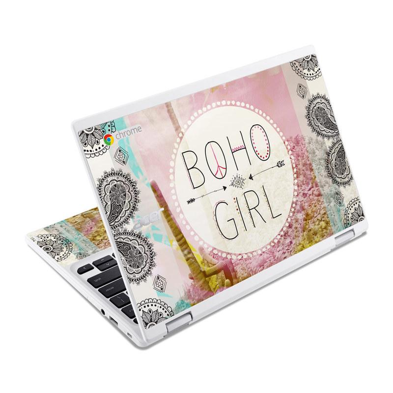 Boho Girl Acer Chromebook R 11 Skin