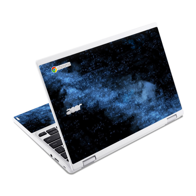 Acer Chromebook R 11 Skin design of Sky, Atmosphere, Black, Blue, Outer space, Atmospheric phenomenon, Astronomical object, Darkness, Universe, Space with black, blue colors