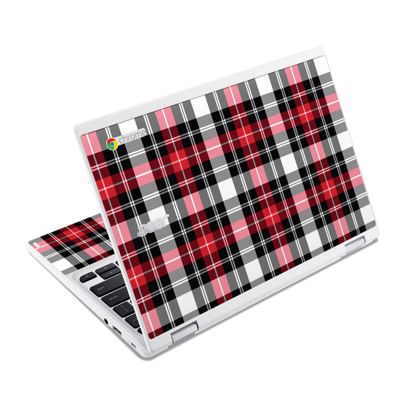 Red Plaid Acer Chromebook R 11 Skin