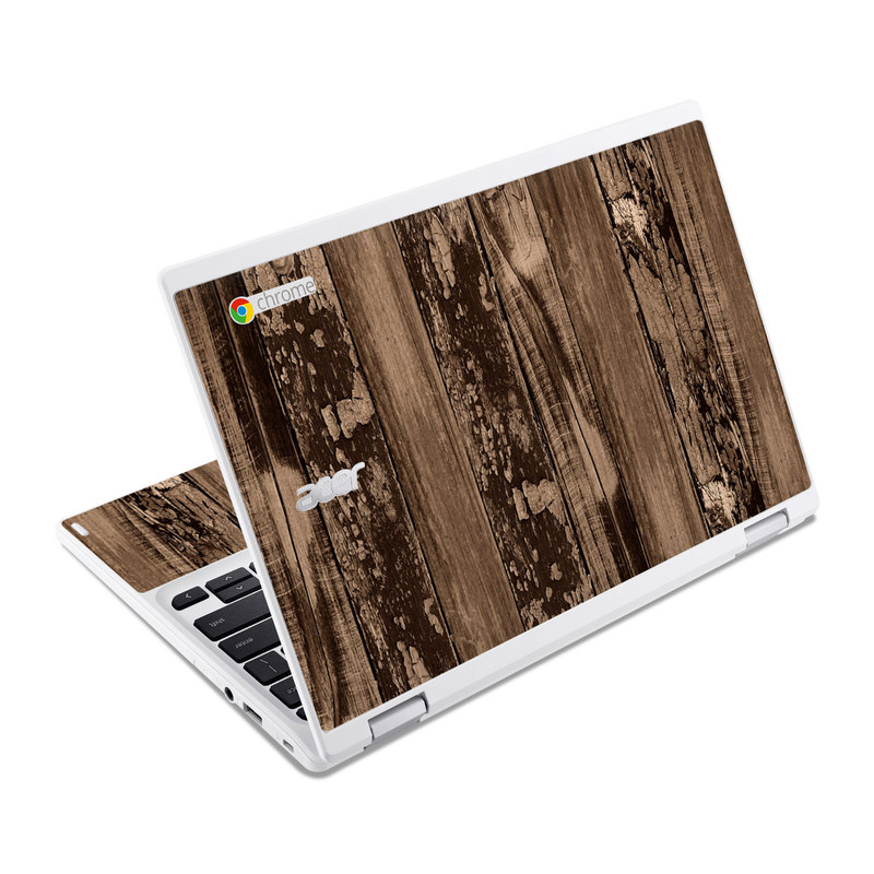 Weathered Wood Acer Chromebook R 11 Skin