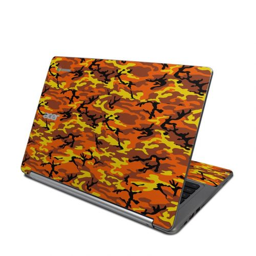 Orange Camo Acer Chromebook R 13 Skin